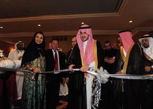 الأمير فيصل بن نواف آل سعود يفتتح صالون الساعات الراقية في جدة
