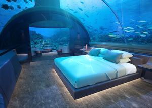 كونراد المالديف يكشف النقاب عن أول منزل تحت الماء في العالم