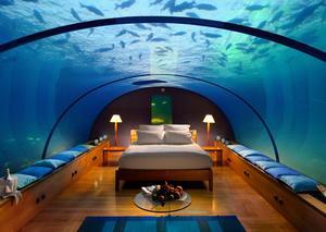 بالصور: المالديف تفتتح رسمياً أول سكن فندقي تحت الماء في العالم