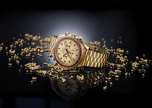 أوميغا تصل إلى القمر بإصدار ساعة سبيدماستر أبولو 11 الذهبية المحدودة