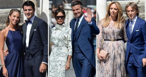 بالصور: شاهد أناقة أبرز نجوم الكرة العالمية في حفل زفاف سيرجيو راموس