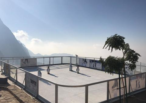 افتتاح أعلى حلبة تزلج بجبل جيس في رأس الخيمة