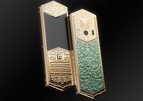 طرح هاتف القيصر المصنوع من الذهب الخالص على شرف الشيخ زايد في الإمارات