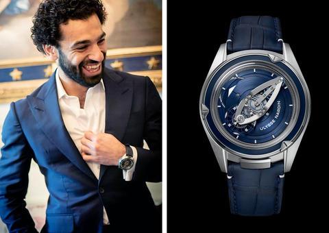 محمد صلاح يكشف عن ساعته الفاخرة المفضلة