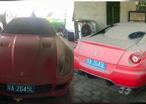 عرض سيارة فيراري حمراء للبيع مقابل 900 درهم إماراتي فقط