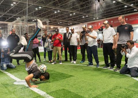 افتتاح عالم دبي للرياضة في مركز دبي التجاري العالمي
