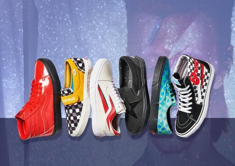فانس تطرح تشكيلة أحذية مستوحاة من أسطورة موسيقى الروك ديفيد بوي
