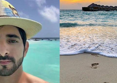 ولي عهد دبي يستمتع بإجازته الصيفية في جزر المالديف