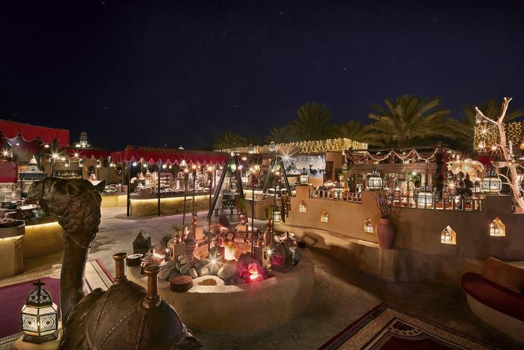 خيمة الحظيرة الرمضانية بمنتجع باب الشمس دبي.