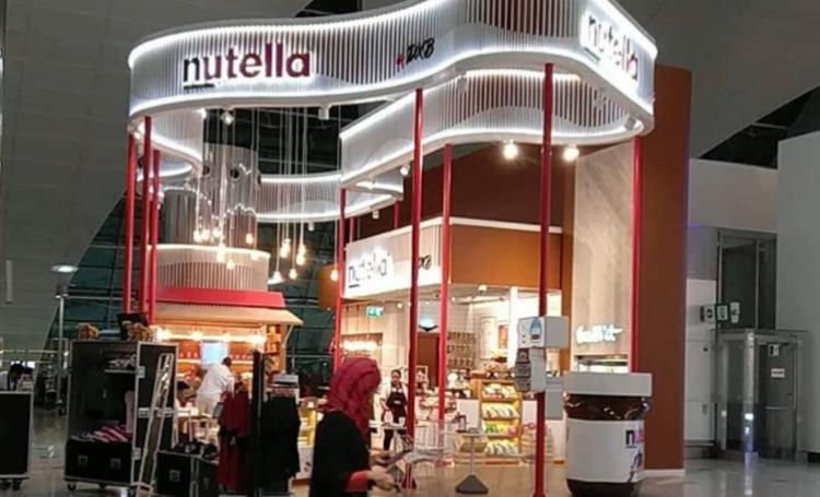 مقهى نوتيلا في مطار دبي الدولي