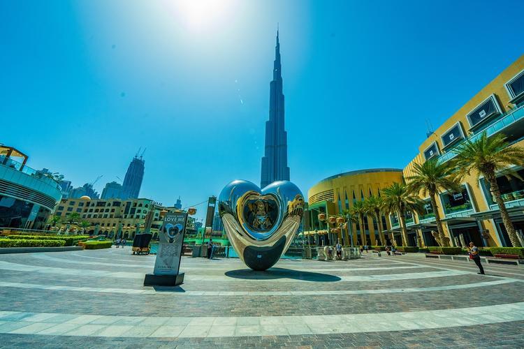دبي, برج خليفة, تمثال, سياحة, ترفيه, سفر, ريتشارد هادسن, دبي مول