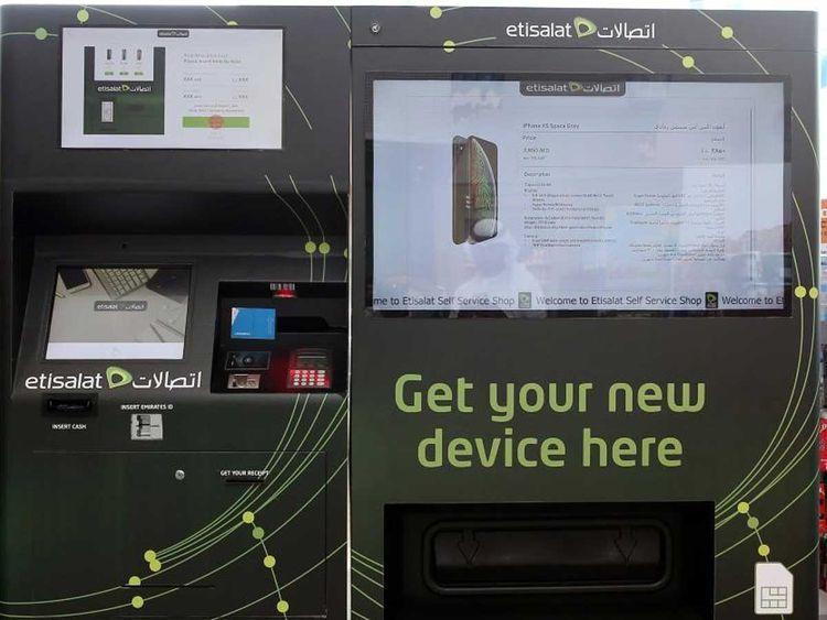 اتصالات, هواتف ذكية, آلة, بيع ذاتية, الإمارات العربية المتحدة, إطلاق, شراء